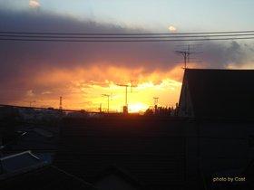 赤い夕日と富士3.jpg